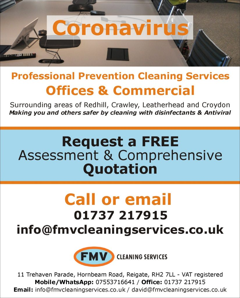 Professional Covit19 prevention cleaning services adv